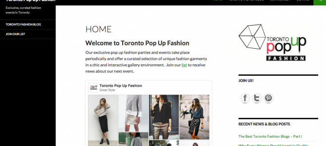 New Brand Launch: Toronto Pop Up Fashion