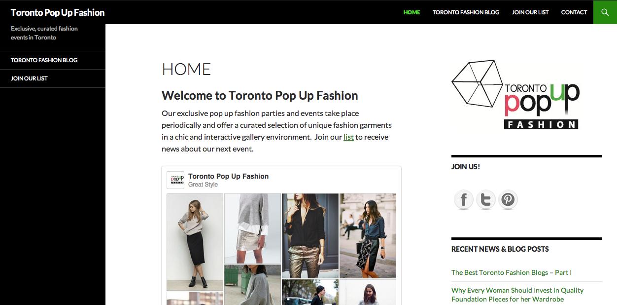 New Brand Launch: Toronto Pop Up Fashion