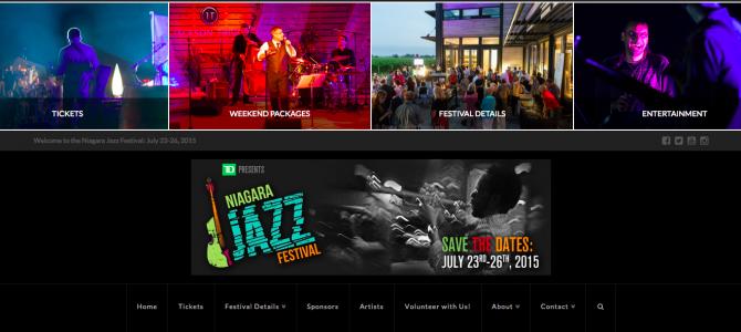 The new TD Niagara Jazz Festival website