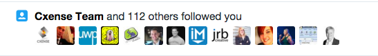new follows on Twitter